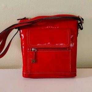 Giani Bernina red leather cross body purse.